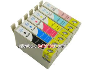 .T0807 tusze do Epson (6 szt., BT) tusze Epson R265, Epson R285, Epson R360, Epson RX560, Epson RX585, Epson PX700W, Epson RX685, Epson P50 - 2825616145