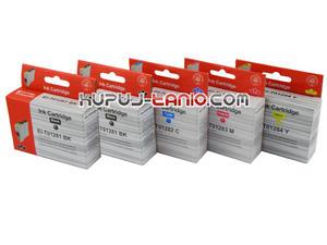 .T1285 tusze do Epson (5 szt., Crystal-Ink) tusze Epson SX430W, Epson SX435W, Epson SX440W, Epson SX445W, Epson BX305F, Epson BX305FW - 2825616539