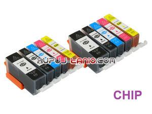 .PGI-525BK - CLI-526 tusze do Canon (10 szt z chipami, BT) tusze do Canon MG5350, MG5250, MG5150, iP4850, iP4950, MG6150, MG6250 - 2825616779