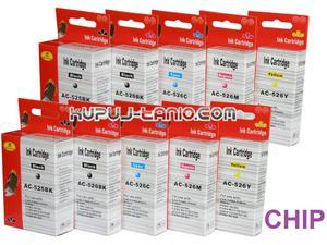 .PGI-525BK - CLI-526 tusze do Canon (10 szt z chipami, Crystal-Ink) tusze do Canon MG5250, MG5350, MG5150, iP4850, iP4950, MG6150, MG6250 - 2825616783