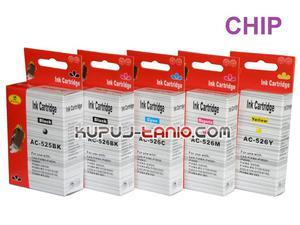 .PGI-525BK - CLI-526 tusze do Canon (5 szt z chipami, Crystal-Ink) tusze do Canon MG5250, MG5350, MG5150, iP4850, iP4950, MG6150, MG6250 - 2825616790