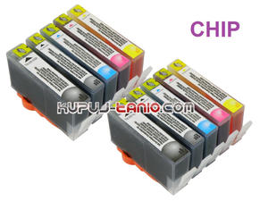 .HP364 XL tusze (10 szt z chipami, Crystal-Ink) tusze do HP Photosmart 7510, HP Photosmart 5510, HP Photosmart 5520, HP Photosmart 5524 - 2825616818