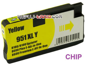 HP 951XL Y żółty tusz (Crystal) tusz HP Officejet Pro 8620, HP Officejet Pro 8600, HP Officejet Pro 8100, HP Officejet Pro 8610 - 2825617927