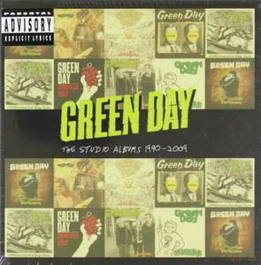 GREEN DAY STUDIO ALBUMS 1990 2009 8 CD KNOWLEDGE - 2860156491