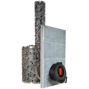 Piec opalany drewnem do sauny SL IKI Plus - szklane drzwi - 2879656501