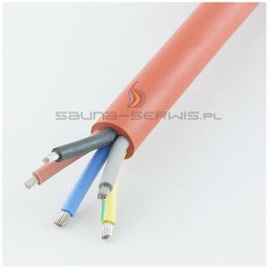 Kabel silikonowy 5 x 2,5 mm2 Kabel silikonowy do sauny - 2832612802