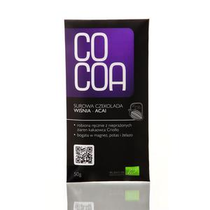 Czekolada Wiśnia-Acai Bio 50G-Cocoa - 2829357251