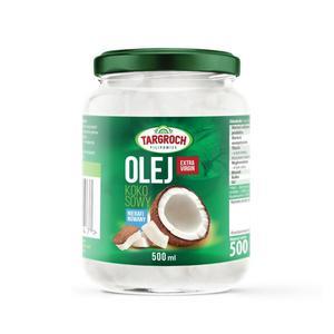 Olej Kokosowy Nierafinowany 500 ml Zimnotłoczony Zapachowy Surowy Virgin- Targroch