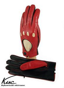 Rękawiczki samochodowe - całuski - czerwono-czarne - 2824938940