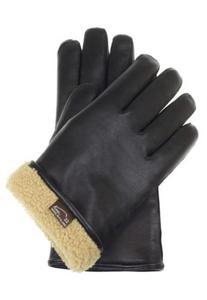 Rękawiczki skórzane ocieplane naturalnym futrem - super ciepłe - 2824938994