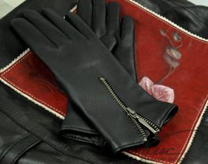 ac76723054076c Eleganckie damskie rękawiczki zimowe, z metalowym zamkiem - 2824939007
