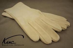 Rękawiczki irchowe damskie - nieocieplane - 2824938942