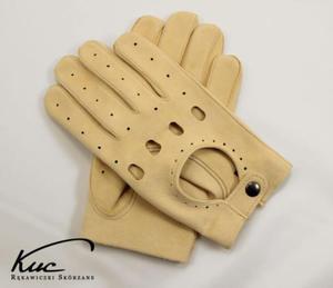 Męskie rękawiczki samochodowe - irchowe - 2824938945