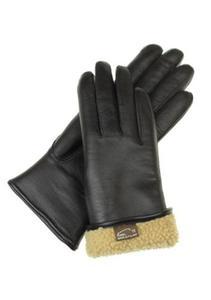 Damskie rękawiczki skórzane ocieplane naturalnym futrem - super ciepłe - 2824939045