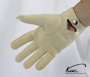 Męskie rękawiczki irchowe - model z zapięciem w nadgarstku - 2824939088