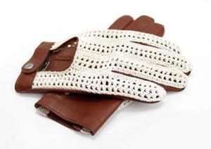 Stylowe męskie rękawiczki samochodowe w stylu włoskim, rękawiczki z tkaną siatką - 2850214302