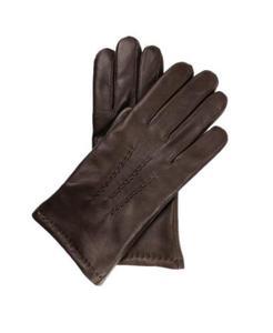 b937398b32173 Męskie rękawiczki ocieplane, miękka skóra nappa - brązowe i czarne -  2879079702