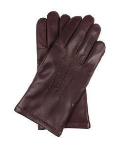 1c6f8ef6e5d45 Męskie rękawiczki ocieplane, miękka skóra nappa - bordowe, burgund Kuc