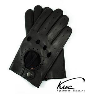 Męskie, skórzane rękawiczki samochodowe Kuc - 2824938934