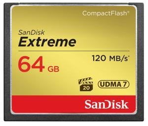 Karta pami?ci SanDisk Compact Flash Extreme 64GB (CF) 120MB/s 800x - 2840777356