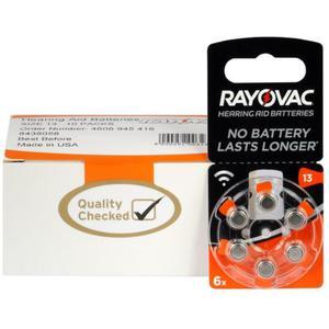 60 x baterie do aparatów s?uchowych Rayovac Acoustic Special 13 - 2849806648