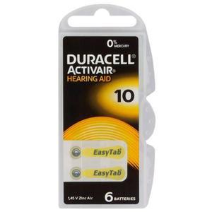 6 x baterie do aparatów s?uchowych Duracell ActivAir 10 MF - 2840777417