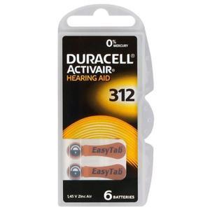 6 x baterie do aparatów s?uchowych Duracell ActivAir 312 MF - 2848102565