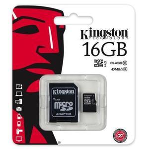 karta pami?ci Kingston microSDHC 16GB class 10 UHS-I + adapter SD - 2847797719