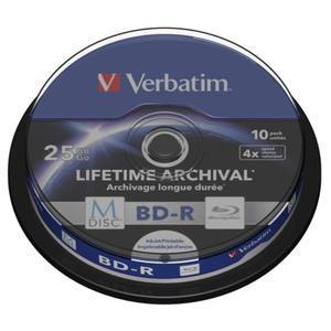 P?yty Blu-Ray BD-R Verbatim MDISC Lifetime Archival Print CAKE10 - 2852585838