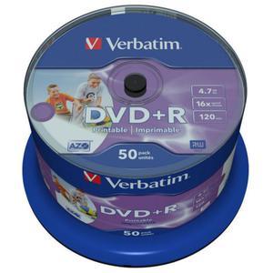 P?yty DVD+R 4,7GB 16X Verbatim PRINTABLE No ID Brand cake 50 - 2840776940