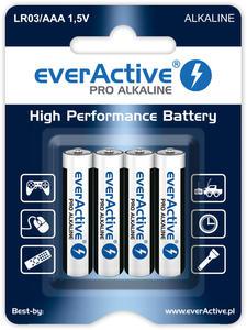 4 x baterie alkaliczne everActive Pro LR03 / AAA (blister) - 2840777483
