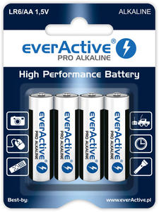 4 x baterie alkaliczne everActive Pro LR6 / AA (blister) - 2853363188
