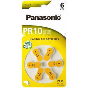 6 x baterie do aparatów s?uchowych Panasonic 10 / PR10 / PR230L / PR536 / PR70 - 2848896705