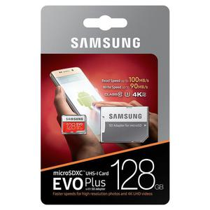 Karta pami?ci Samsung EVO PLUS microSDXC 128GB UHS-I U3 class 10 90/100MB/s + adapter do SD - 2854940295