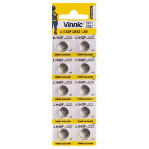 10 x bateria alkaliczna mini Vinnic G12 / AG12 / L1142 / LR43 / 186 / V12GA / RW84 / D186 - 2840777164