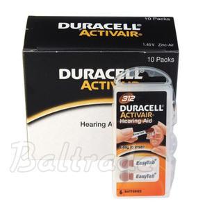 60 x baterie do aparatów s?uchowych Duracell ActivAir 312 - 2840777431