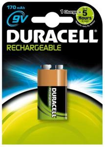 akumulatorek Duracell 6F22 9V Ni-MH 170mAh 8,4V - 2852585870
