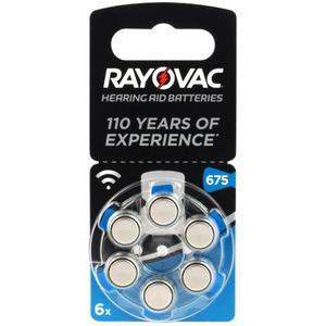 6 x baterie do aparatów s?uchowych Rayovac Acoustic Special 675 - 2840777419