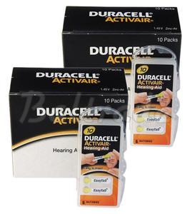 120 x baterie do aparatów s?uchowych Duracell ActivAir 10 - 2840777440