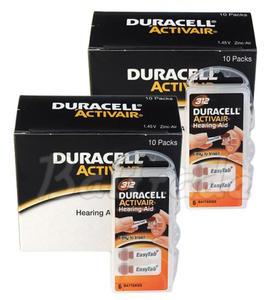 120 x baterie do aparatów s?uchowych Duracell ActivAir 312 - 2840777434