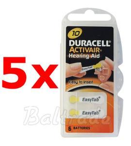 30 x baterie do aparatów s?uchowych Duracell ActivAir 10 - 2840777429