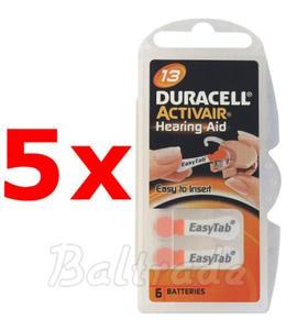 30 x baterie do aparatów s?uchowych Duracell ActivAir 13 - 2840777372