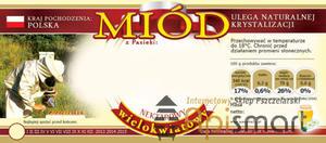 Paczka etykiet na MIÓD MIÓD WIELOKWIATOWY (100szt) - wzór E49 - Paczka etykiet na MIÓD MIÓD WIELOKWIATOWY (100szt) - wzór E49 - 2825618679