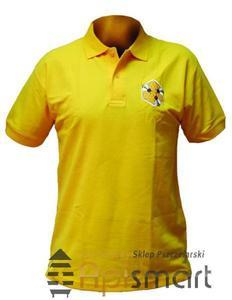 Koszulka POLO z haftem ŻÓŁTA - 2825618754