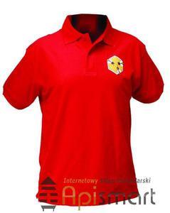 Koszulka POLO z haftem CZERWONA - 2825618909