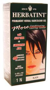 Ziołowa farba do włosów 1N czarna - Herbatint - 135ml - 2823602268