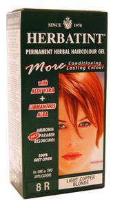 Ziołowa farba do włosów 8R jasny miedziany blond - Herbatint - 135ml - 2834615844