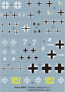 Armo 35418 - Pojazdy zdobyczne vol.2 (kalkomania 1/35) - 2824103169