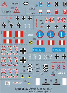 Armo 35427 - Afryka 1941-43 cz.2 (kalkomania 1/35) - 2824103569