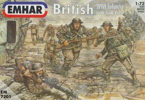 Emhar EM7201 - Brytyjska piechota i czołgiści z I wojny (1/72) - 2824103676
